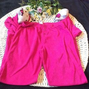 Hello kitty juniors pajama pants pink medium